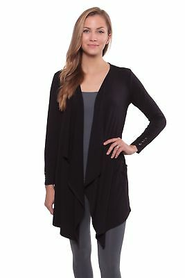 Texere Women's Long Sleeve Draped Cardigan - Stylish Present Ideas for Her