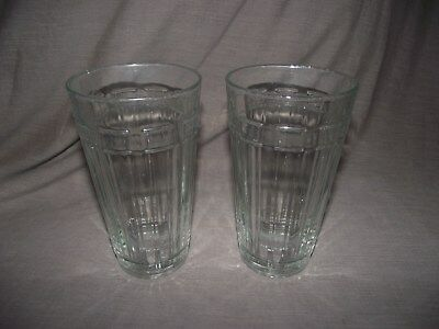 Set of 2 Longaberger Woven Traditions 16 Ounce Tumbler Glass