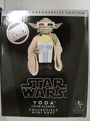 Gentle Giant Yoda Bust 3D Glasses Mini Bust 2012 Convention Exclusive 635/1200