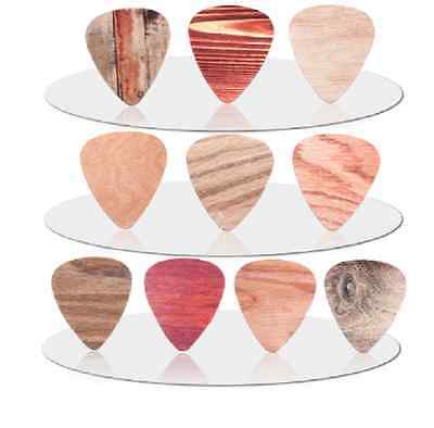 Woodgrain Wood Grain Plastic Guitar Picks Lot of 10 .71 mm Free Tracking New