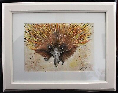 Echidna in Frame ready to hang
