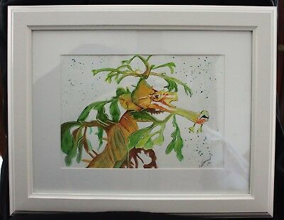 Green Leafy Sea Dragon in Frame ready to hang