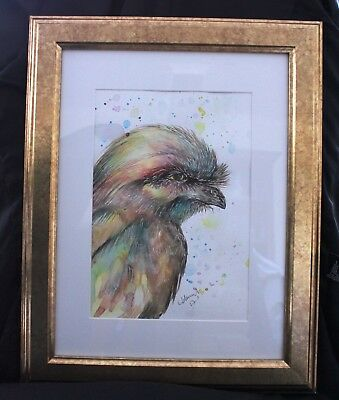 Tawny Frogmouth in Frame ready to hang