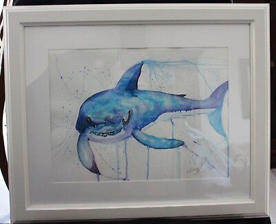 Shark in Frame ready to hang
