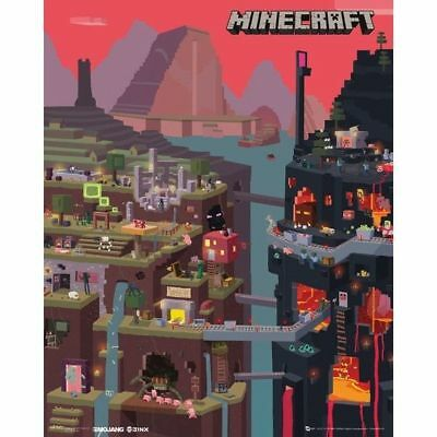 Minecraft World Game Mini Poster