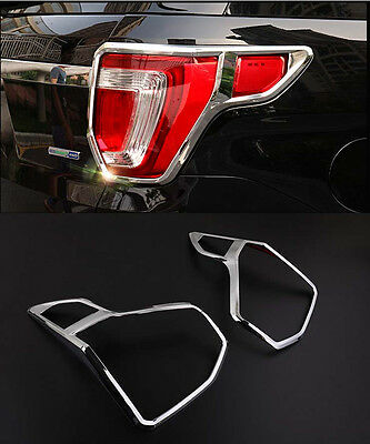 Tail Rear Light Lamp Cover Trim for 2016 Ford Explorer SUV ABS Chrome 2PCS