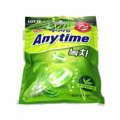 LOTTE Anytime Sugar-Free Xylitol Candy Greentea Flavor 74g V_e