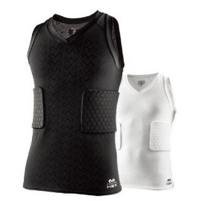 McDavid Hex 3-pad Tank Shirt Support Compression Protector Sports Gear 7963T V_e