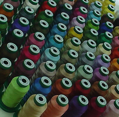 10 x 1,000 MTR JANOME COLOUR MACHINE EMBROIDERY THREADS YOU CHOOSE COLORS