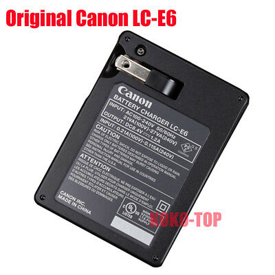 Original Canon LC-E6 Charger for LP-E6 LP-E6N EOS 5D Mark III 60D 6D 7D 70D 80D