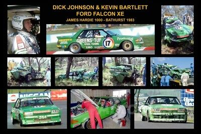 343-Dick Johnson XE Falcon 1983 A collage of 10 photos  8x12 inch Photo Only $3