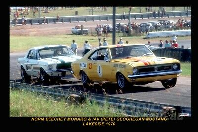 70283 - Norm Beechey Holden Monaro Lakeside 1970 -  8x12 inch Photo Only $3