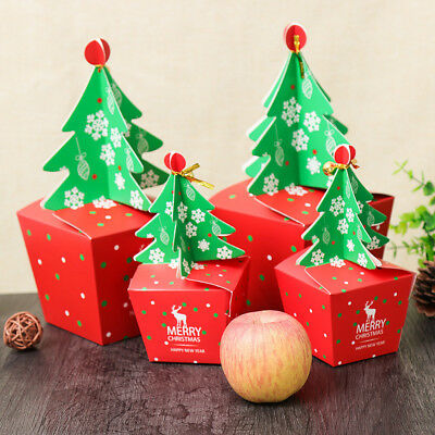 Personalised Christmas Eve Apple Packing Gift Box Xmas Tree Favour Present Boxes