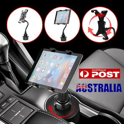 Adjustable Car Cup Holder Mount For 7''-10'' Tablet Apple iPad Samsung Galaxy AU