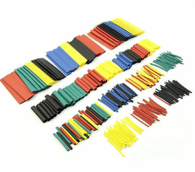 328PCS Assorted 2:1 Heat Shrink Tubing Top New 5 Colors Sleeve Kit Wrap 8 Sizes