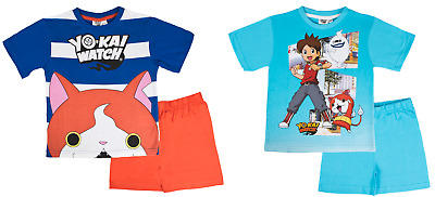 Boys Yo Kai Watch Short Pyjamas Character Short Sleeved Shortie PJ's Kids Size
