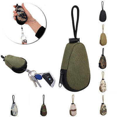 Camo Waterproof Car Key Bag Pouch Coins MP3 Keychain Holder Case Outdoor