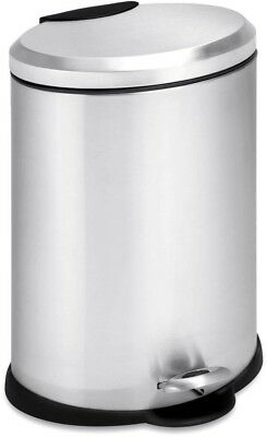 Stainless Steel Step On Trash Can With Lid 3 Gallon Office Kitchen