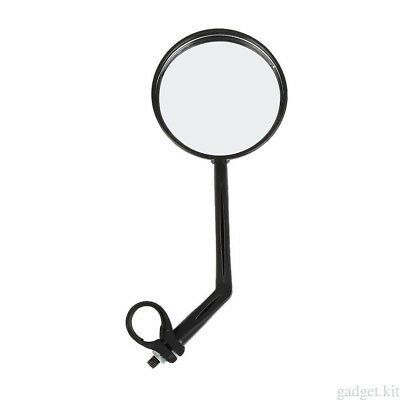 For Bike Bicycle Cycling Mirror Glass Flat Handlebar Flexible Rearview Round NEW
