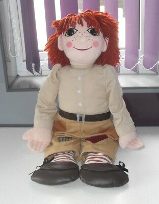 """Vintage Large 30"""" Jim Rag Doll From T.v. Show Rosie & Jim Canal Boat"""
