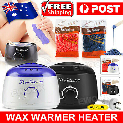 No Strip Wax Pot Warmer Hard Wax Bean Body Remover Heater Waxing Machine Kit