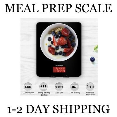 Digital Tempered Glass Food Meat Scale LCD Display Baking Cooking 11lb by 0.1 oz