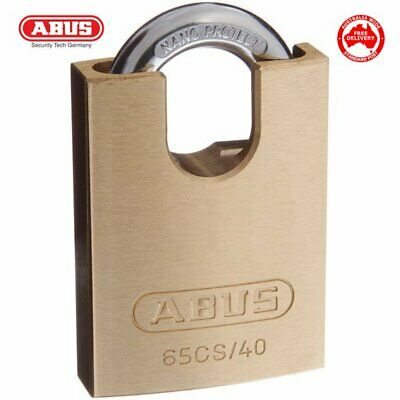 ABUS 65CS40 Padlocks 40mm -Perfect Shed Lock -Brass Bodied Padlock-FREE POST