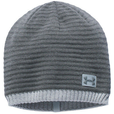 Under Armour 2017 Mens UA Jacquard Knit Beanie - Rhino Grey - One Size