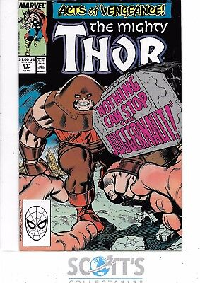 Thor  #411  NM  1st New Warriors