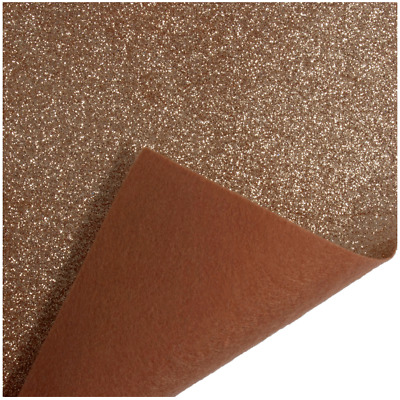 Bronze Trimits Glitter Felt A4 Sheet 23cm x 30cm Christmas Crafts