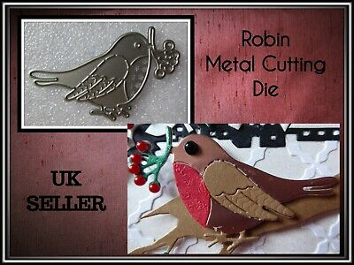 Christmas Robin Metal Cutting Die,Berry',Stencil,Crafts,Card Making,Scrapbooking
