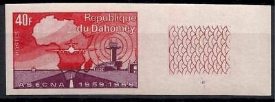 Dahomey 1970 Air trafic control Plane Aircraft Tower Aviation Maps Imperf MNH 3