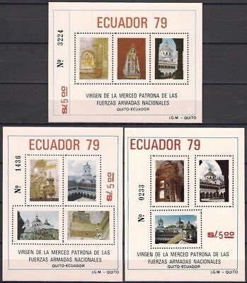Ecuador 1980 Virgin La Merced/Quito Church Building Architecture Religion MNH