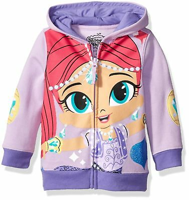 Shimmer and Shine Girls' Character Hoodie Lilac/Soft Violet 4T