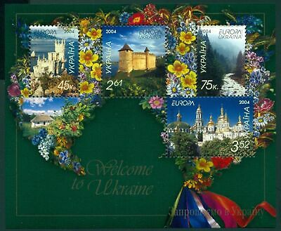 Ukraine 2004 Holidays Castle Building Mountains Tourism Europa Flowers View MNH