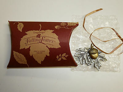Longaberger Falling Leaves Leaf & Acorn Tie-On  NEW in Box Made in the USA