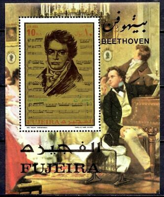 Fujeira 1971 Beethoven Music Composers Entertainment Opera People m/s MNH