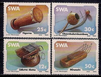 SWA/South West Africa 1985 Music Traditional Instruments Drum 4v set MNH