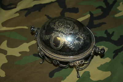 MH & Co. Silver Plated Ornate Rolling Cover Chafing Serving Warming Dish