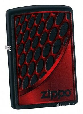 RED AND CHROME Black Matte ZIPPO neu+ovp COLLECTION 2018