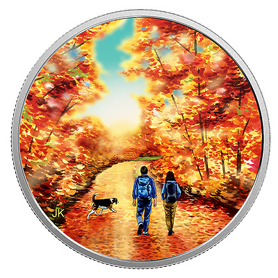 Great Canadian Outdoors: Nature Walk At Sunrise - 2017 $15 3/4 Fine Silver Coin