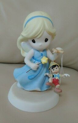 Precious Moments Disney Blue Fairy Pinnochio Your Love Brings Out The Good in Me