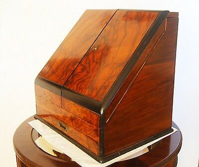 Antique Red King-Mahogany Stationery Cabinet With Calendar