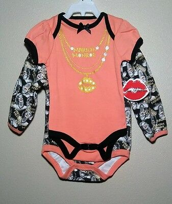 Marilyn Monroe Baby Clothes (2-piece set) 3/6M