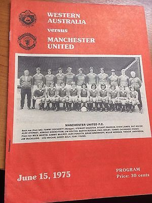 Western Australia v Manchester United MINT Programme played June 15th 1975