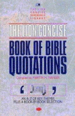 The Lion Concise Book of Bible Quotations (Lion concise editions)