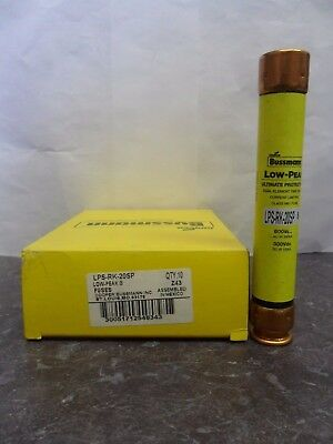 New Lot Bussmann LPS-RK-20SP 20 Amp Fuses Low Peak 600 Volts NEW LOOK NIB