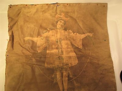 ANTIQUE PIERROT PRINTED  cushion cover/   price reduced