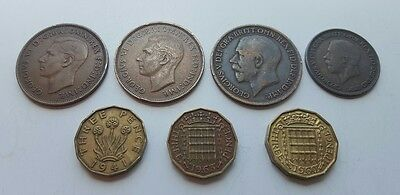 ~ Lot of (13) Great Britain Assorted Vintage Coins ~