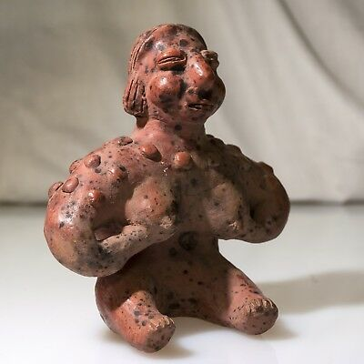 Pre-Columbian Colima Seated Female Figure 200 B.C. - 200 A.D.